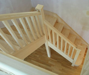 white fir stairs